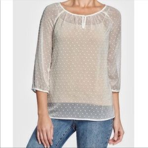 Cute White Peasant Blouse from Old Navy   …